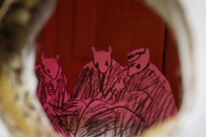 figure 9, detail of students' final diorama exploring empathy and Holocaust denial
