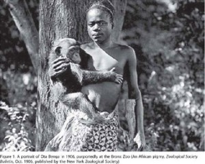 Ota Benga at the Bronx Zoo in 1906