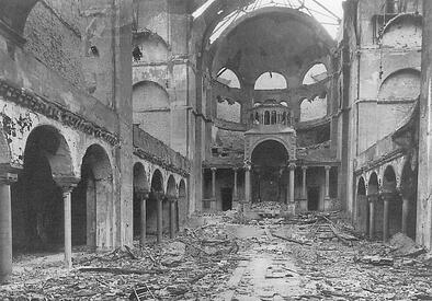 kristallnacht interior synagogue