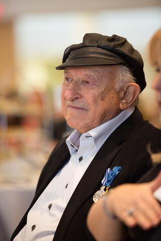 Holocaust survivor and educator Nate Leipciger.  Photo credit Nick Kozak