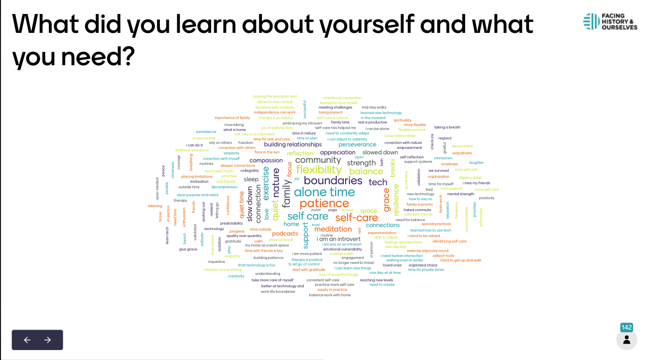 This Mentimeter word cloud is taken from the Back to School on-demand webinar.