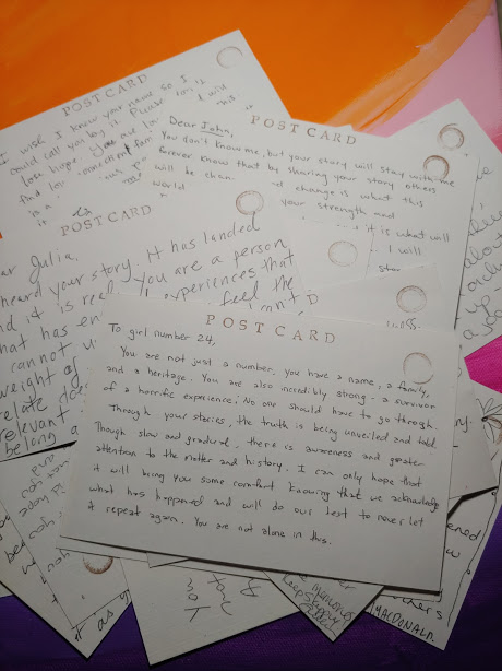 postcards to students